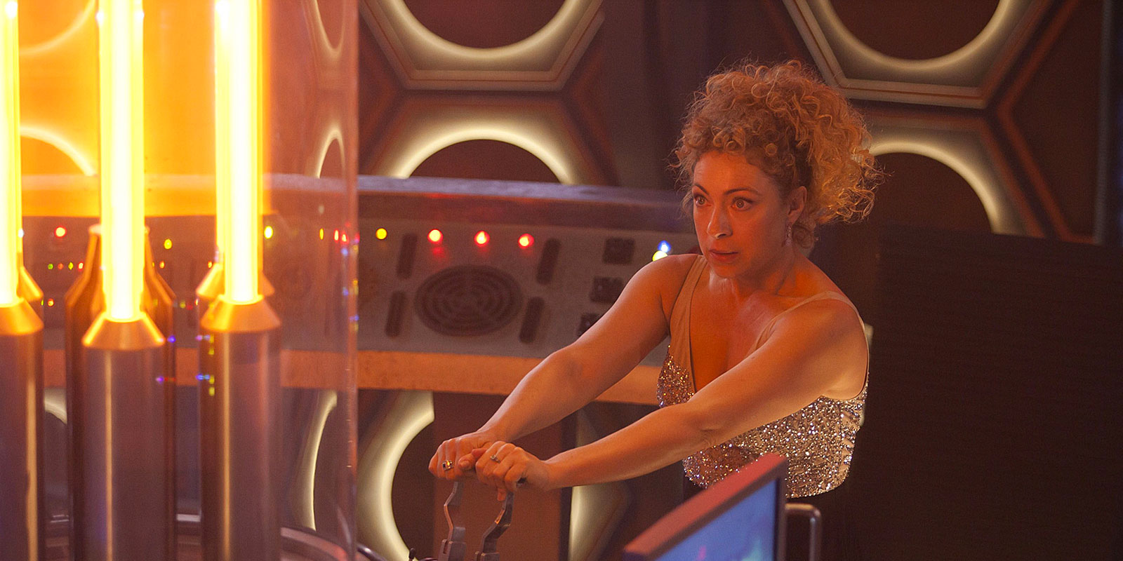 River Song flying the TARDIS