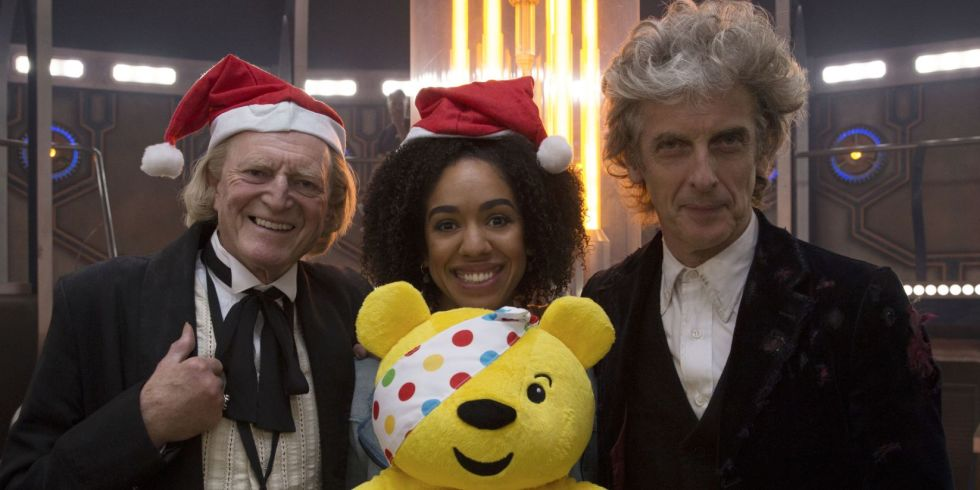BBC Children in Need: David Bradley, Pearl Mackie and Peter Capaldi can't 'bear' the excitement!