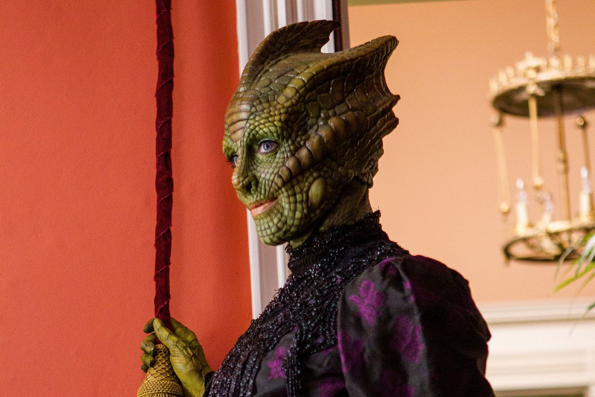 Madame Vastra, a Silurian warrior and consulting detective to Scotland Yard