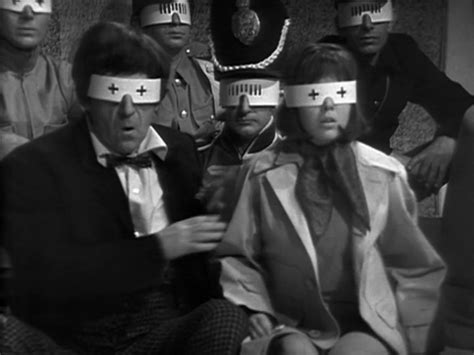 Zoe and the Doctor in disguise in the epic 10 part  ' The War Games' written by Malcolm Hulke and Terrance Dicks which introduced the Doctor's people.