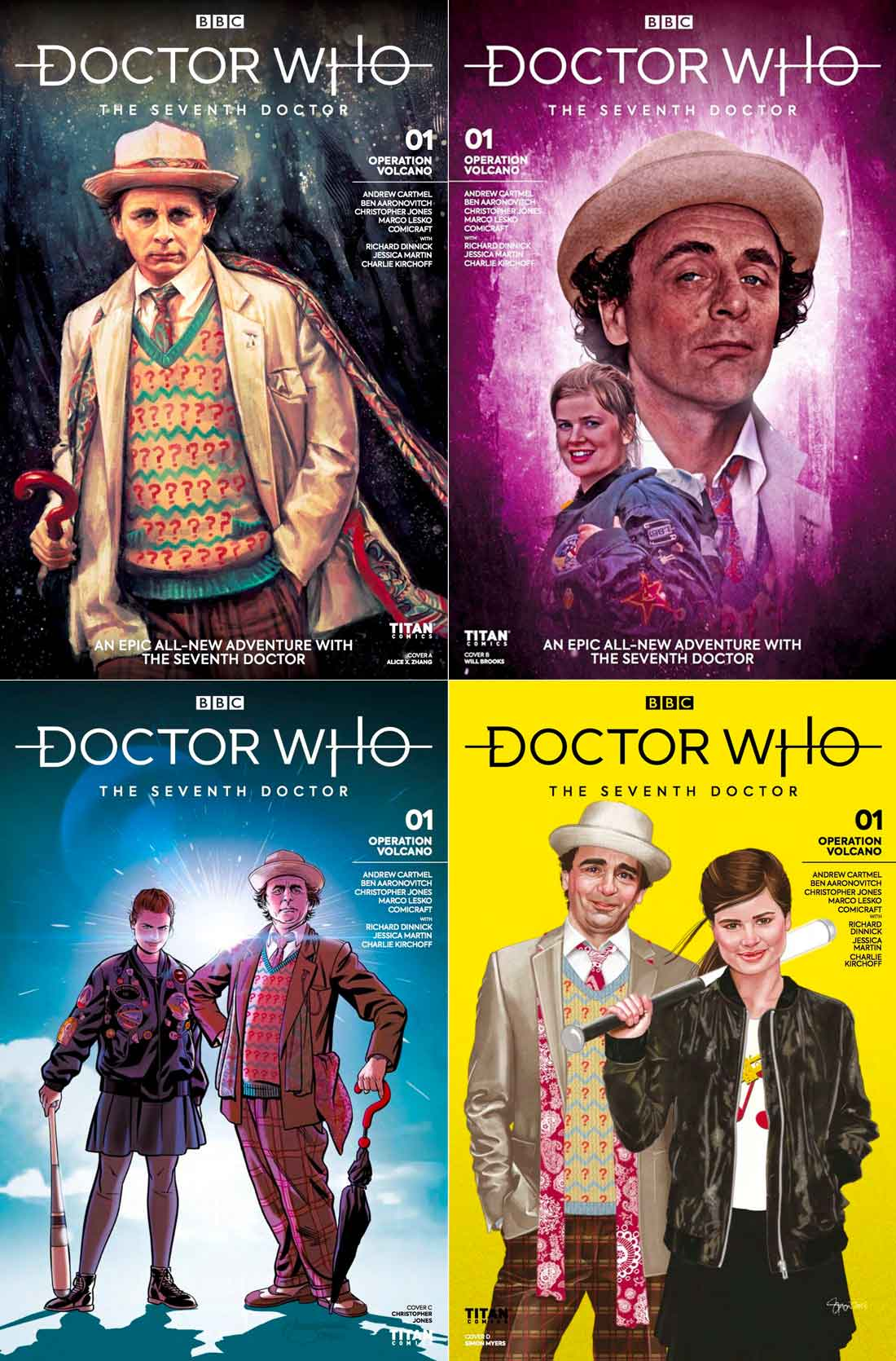 The alternate cover for Doctor Who - The Seventh Doctor: Operation Volcano