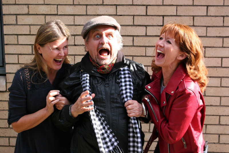 Sophie Aldred, Sylvester McCoy and Bonnie Langford enjoy the recording for Red Planets