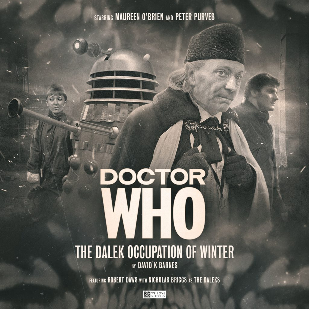 The sixties reverse cover for The Dalek Occupation of Winter