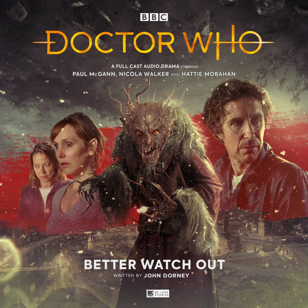 "Cover artwork for ""Better Watch Out"", the first of a two-part story by John Dorney"