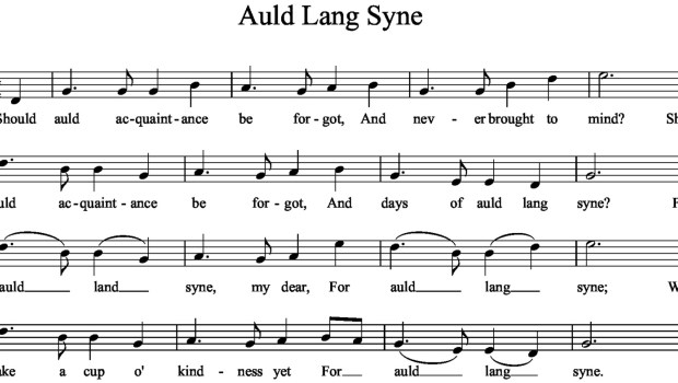 Auld Lang Syne - the song heard around the world