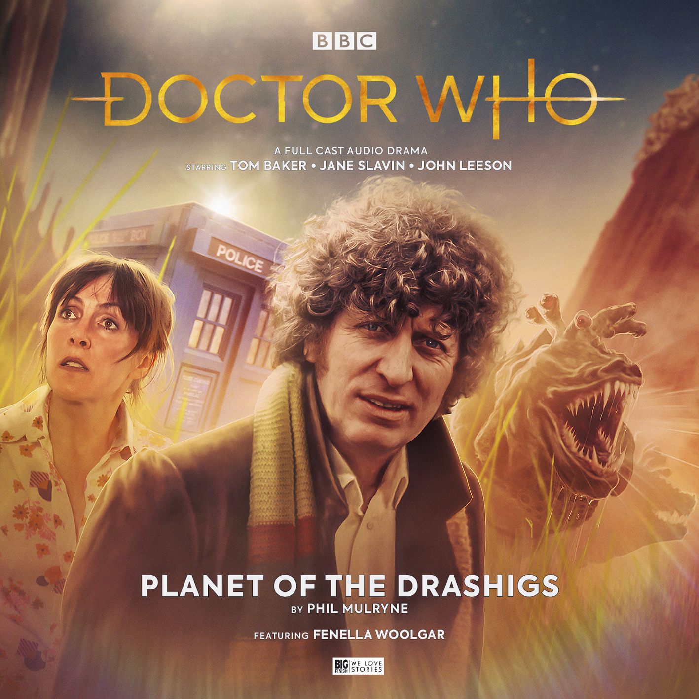 """Cover artwork for """"Planet of the Drashigs"""" by Phil Mulryne"""