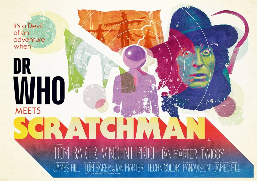 "Movie poster design for ""Dr Who Meets Scratchman"""