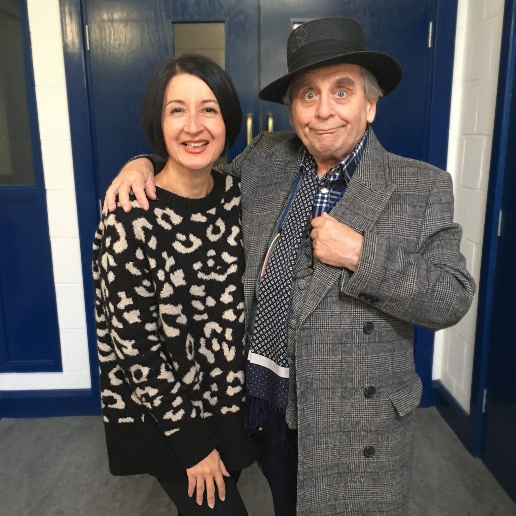 Jessica Martin and Sylvester McCoy enjoy the recording for this new trilogy