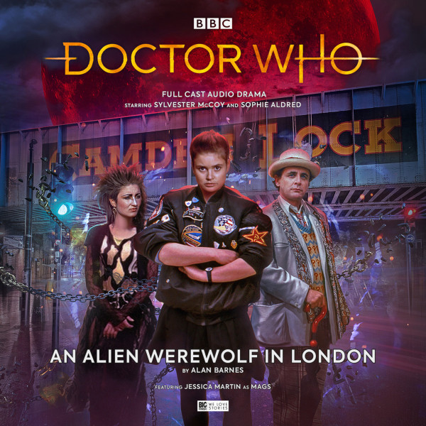The cover for An Alien Werewolf in London