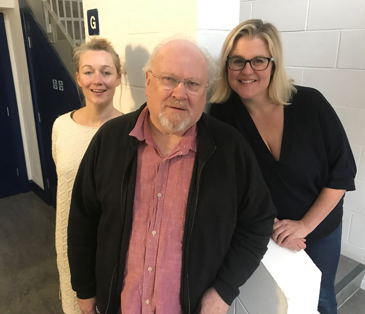 Anna Hope, Colin Baker and India Fisher
