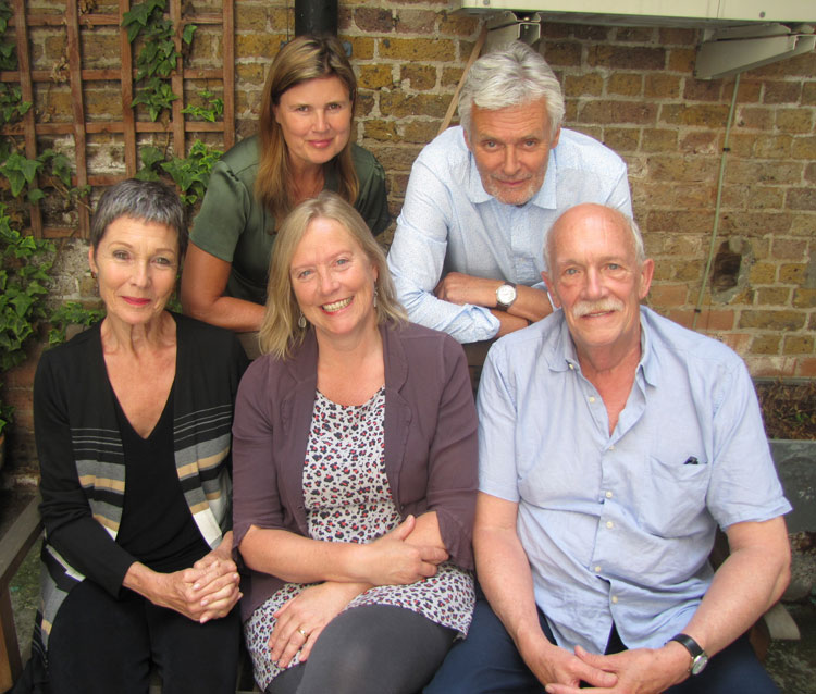 Sophie Aldred, Simon Williams, Pamela Salem, Karen Gledhill and Hugh Ross