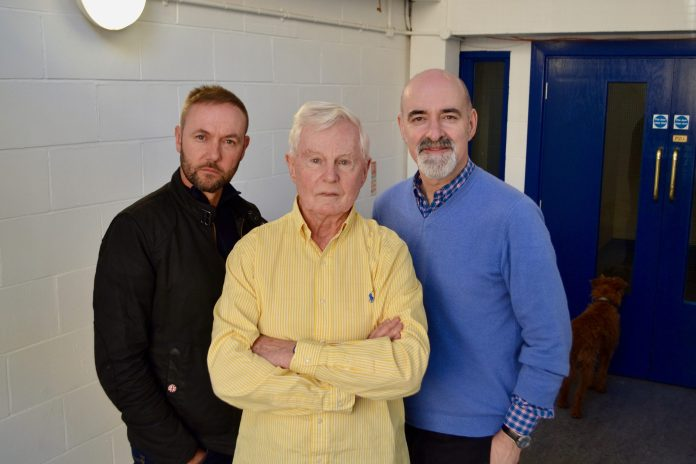 Sean Carlson, Derek Jacobi and Nicholas Briggs