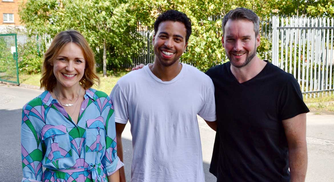 Catherine Ayers. Aaron Anthony and Gareth David-Lloyd