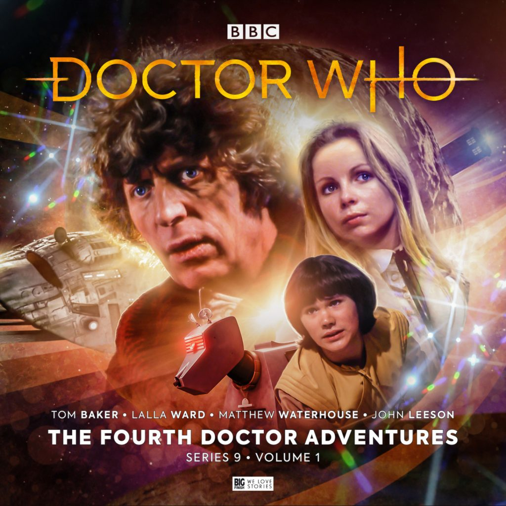 Slipcase artwork for Volume 1 of The Fourth Doctor Adventures Series 9