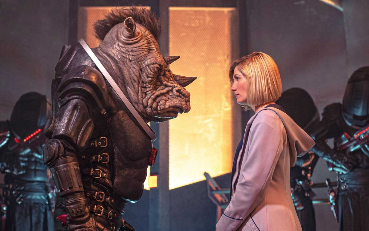 The Doctor facing Judoon justice