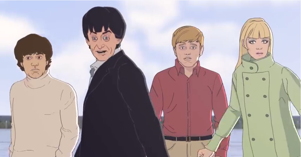 The Tardis crew animated by BBC Studios