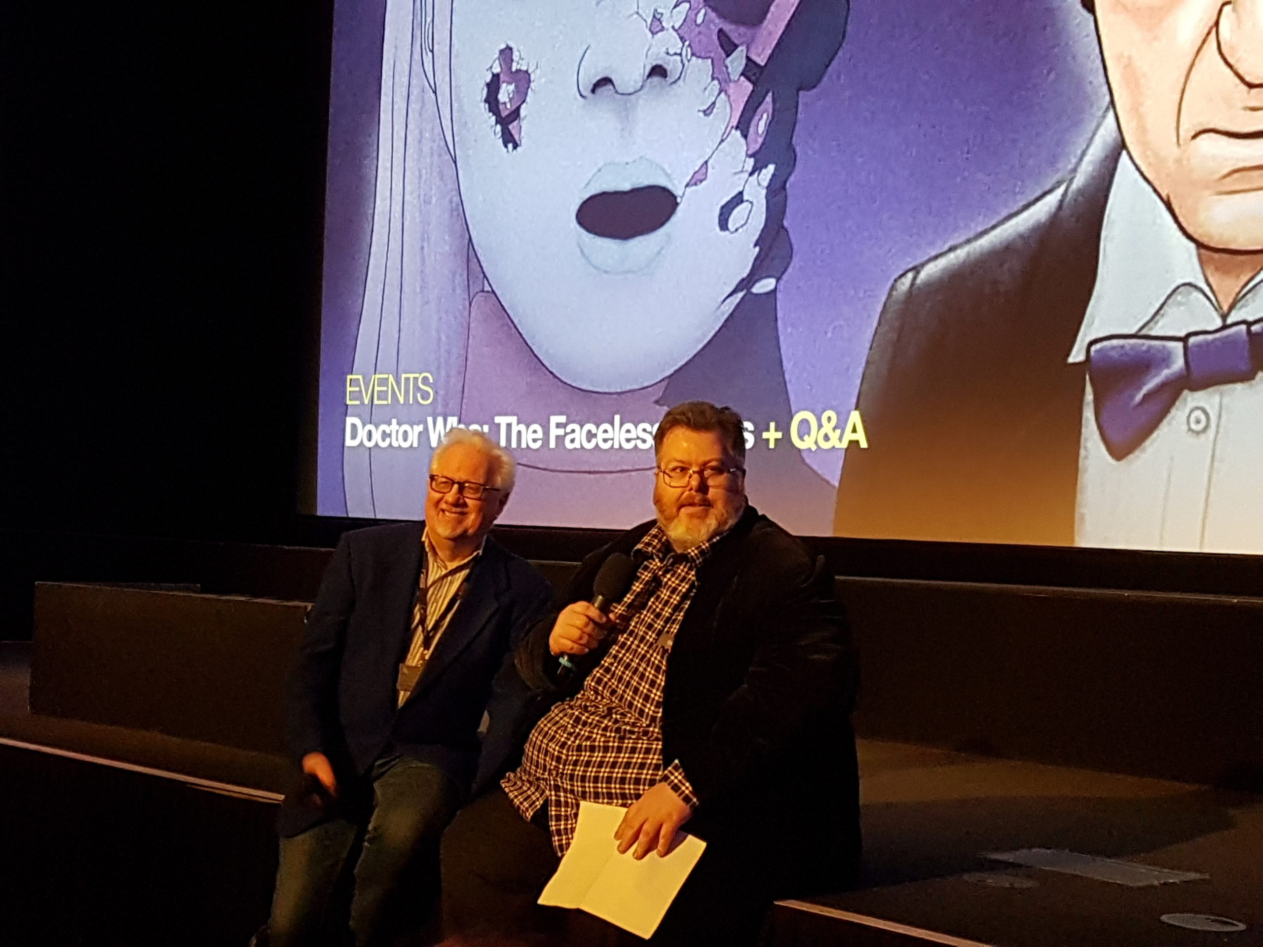 BFI hosts Dick Fiddy ( BFI Archive Television Programmer) and Justin Johnson (Lead Programmer for BFI)