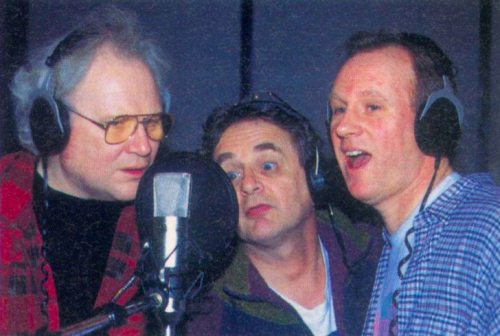 Colin Baker, Sylvester McCoy and Peter Davison at the recording of The Sirens of Time