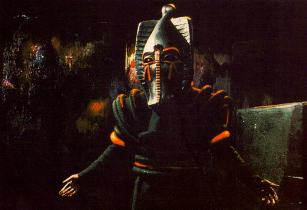 The four-part finale will see the return of Sutekh the Destroyer who will murder the Doctor, gain access to the TARDIS and sees history unravel completely