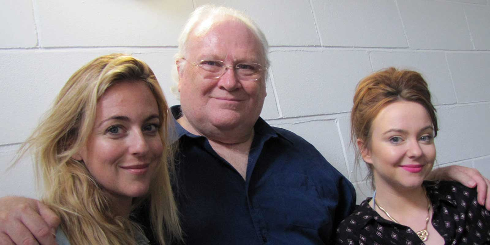The cast: Miranda Raison (Constance Clarke), Colin Baker (The Doctor) and Lisa Greenwood (Flip Jackson)