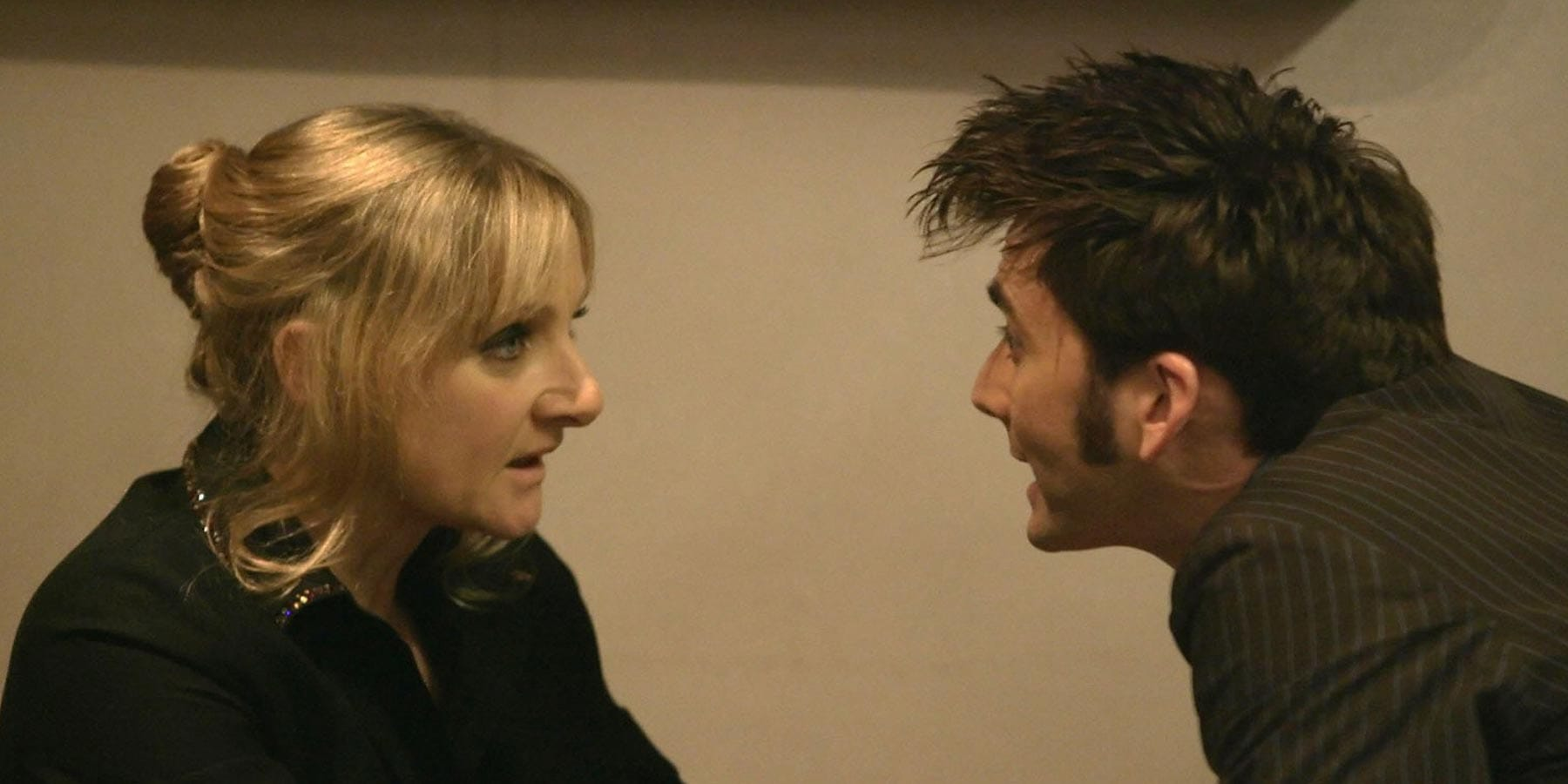 The Doctor and Sky face-off in Midnight, 2008