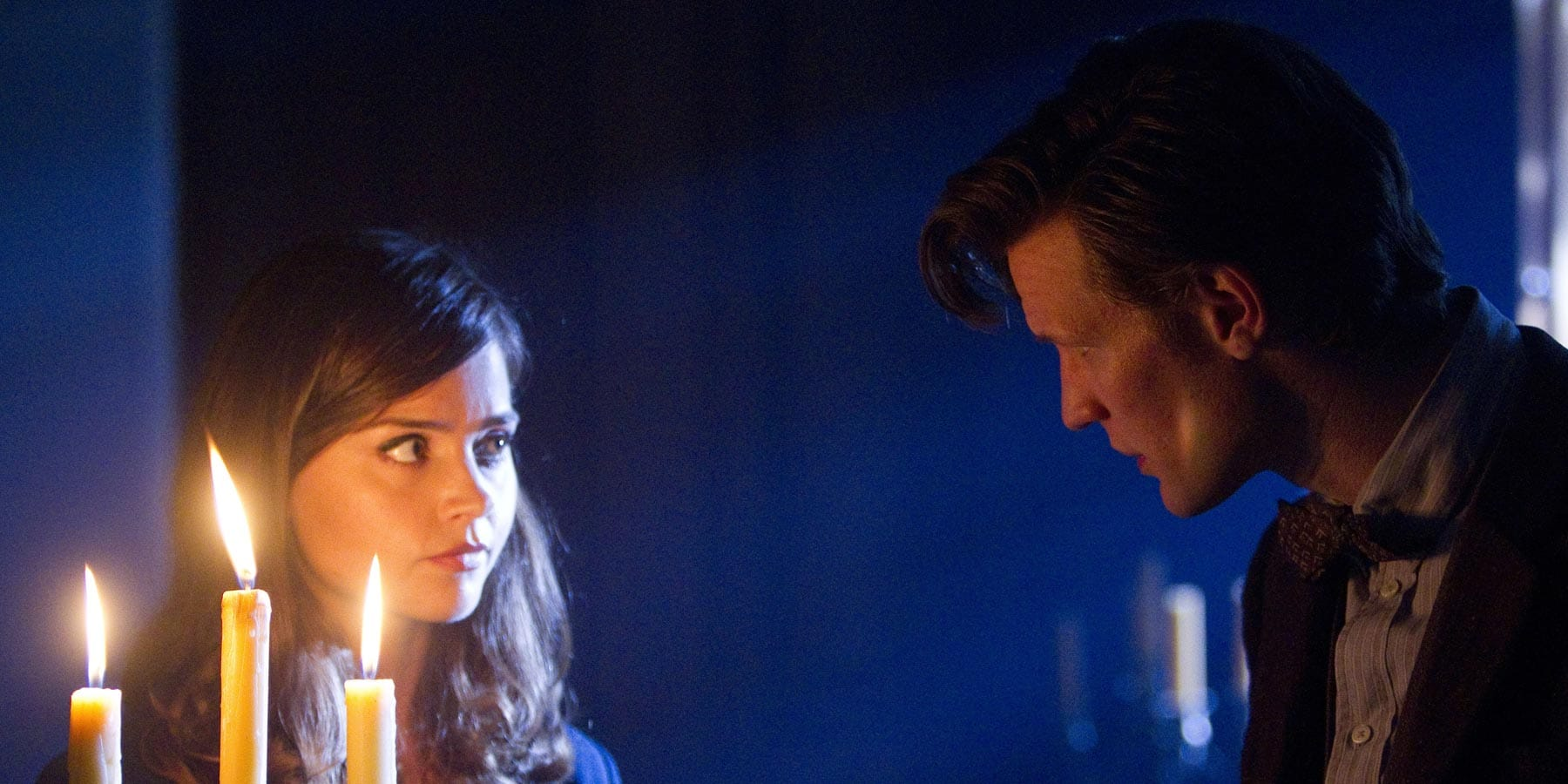 Clara and The Doctor investigating Caliburn House, 2013